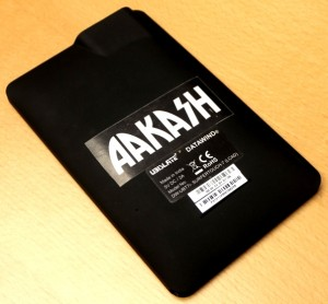 Aakash Tablet back view