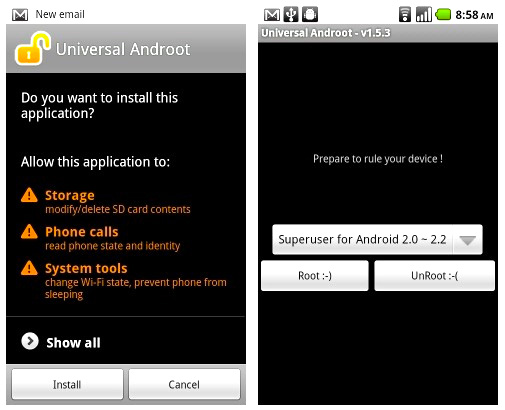 Androot universal root app