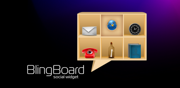 Social Widget Bling Board