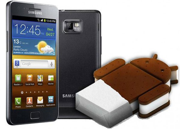 Galaxy S2 sim free Ice cream sandwich update